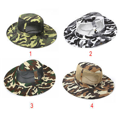 34eb4203e65 Bucket Hat Boonie Hunting Fishing Outdoor Men Cap Washed Cotton NEW W  STRINGS US