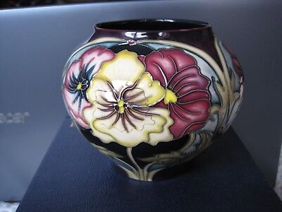Moorcroft 2007/8 Collectors Club  5 Star Members Vase Rachel Bishop Reflections