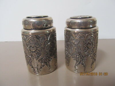 Persian/Iranian Silver Salt & Pepper Shakers, Early 20 th C.