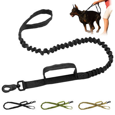 Bungee Leash for Large Dogs 5ft Nylon Rope Dual Handle Traffic Leads K9 Pit bull