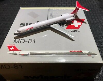 Swissair MD-81 Swiss National Museum 1:400 Airplane Model w/ Stand