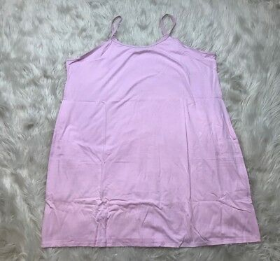 NWOT Sleep In by Bed Head PJs QVC Pink Cotton Cami Tank Top Plus Sz 2X