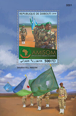 Z08 Imperf DJB18712b Djibouti 2018 Mission in Somalia MNH Mint