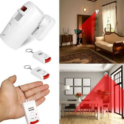 Deter Intruders Anti-Theft Alarm Wireless Home Security 2 Remote Controller
