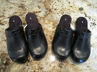 Lot of 2 Pairs of NEW Women's Shoes 9  Mules, Clogs, Slip On, Casuals Wide W