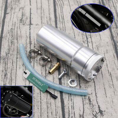 Oil Catch Tank Aluminum Coolant Reservoir Can Silver for Motorcycle Motor bike