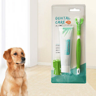 KE_Pet Dog Cat Toothpaste Toothbrush Teeth Cleaning Oral Care Health Supplies AU