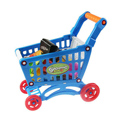 Grocery Playset Baskets Blue Supermarket Shopping Cart Charming designs Gift