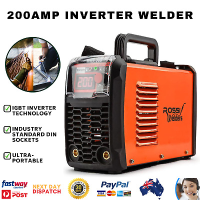ROSSI Portable 200Amp ARC MMA Inverter Welding Machine iGBT