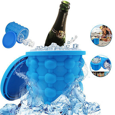 Revolutionary Space Saving Ice Cube Maker Silicone Bucket Kitchen Tool Magic
