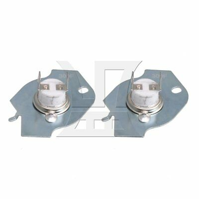 Thermostat Thermal Fuse WP3977393 Replace 3977393 Whirlpool Dryer Set of 2
