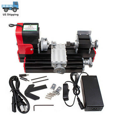 DIY Motorized Lathe Machine Mini Metal Woodworking Hobby 20000rev/m Tool US