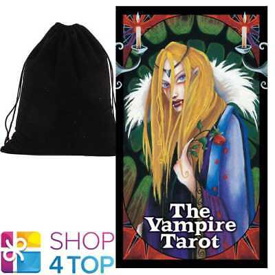 Vampire Tarot Cards Deck Natalie Hertz  Esoteric Us Games Systems Velvet Bag New