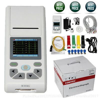 Touch 1 Channel EKG 12 lead ECG Machine USB Electrocardiograph Software SD Card