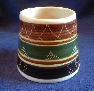Welsh Pottery. Small Brush Pot.