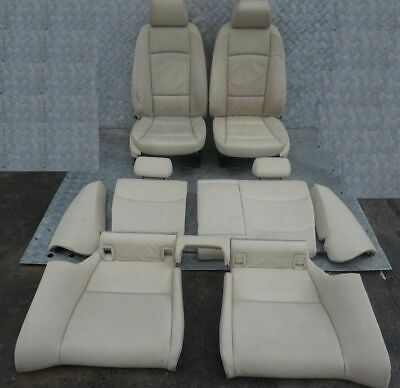 BMW 3 Series E92 Coupe Cream Beige Leather Interior Seats With Door Cards