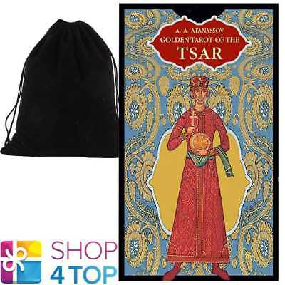 Golden Tarot Of The Tsar Deck Cards Esoteric Lo Scarabeo With Velvet Bag New