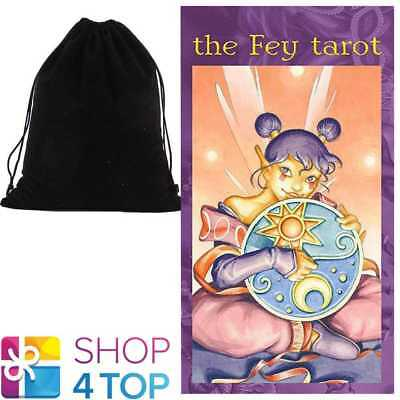 The Fey Tarot Deck Cards Lupatelli Esoteric Lo Scarabeo With Velvet Bag New