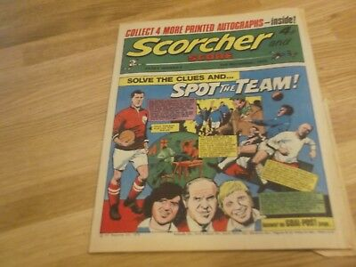 1973 Scorcher And Score Comic Cardiff City On Cover In Spot The Team