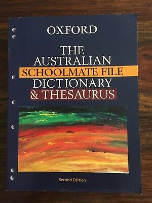 Oxford, The Australian Schoolmate File Dictionary & Thesaurus | Brand New