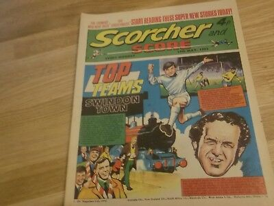 1972 Scorcher And Score Comic Swindon Town Top Teams On Cover