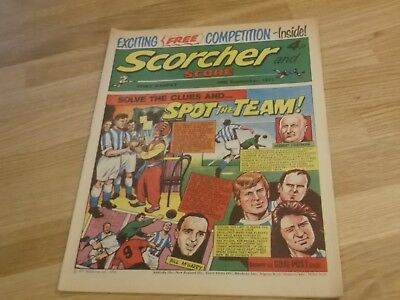 1973 Scorcher And Score Comic Huddersfield Town On Cover In Spot The Team