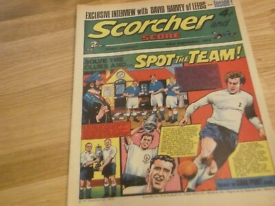 1973 Scorcher And Score Comic Tottenham Hotspur On Cover In Spot The Team