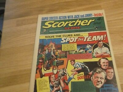 1973 Scorcher And Score Comic Sheffield Wednesday Spot The Team On Cover