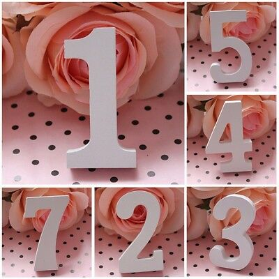 Wooden Letters Alphabet Sign Number Wood Decorative White Standing Wedding Decor