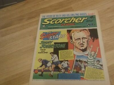 Jimmy Johnstone 1973 Scorcher And Score Comic Jimmy Johnstone Of Celtic On Cover