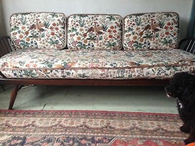 Vintage Ercol studio couch with original covers