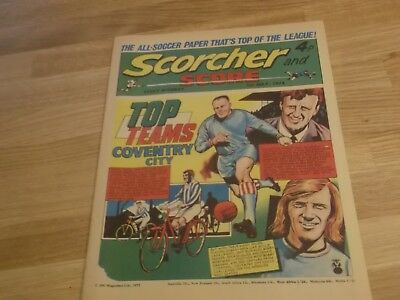 1972 Scorcher And Score Comic Coventry City Top Teams On Cover