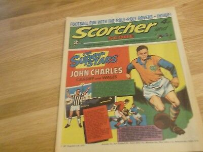 1972 Scorcher And Score Comic John Charles Of Cardiff City And Wales On Cover