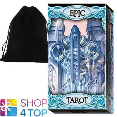 Epic Tarot Deck Cards Martinello Esoteric La Scarabeo With Velvet Bag New