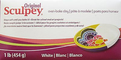 ORIGINAL SCULPEY - Polymer Clay -  454g - WHITE
