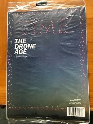 Rare Brand New Time Magazine June 11, 2018 - The Drone Age - Special Report