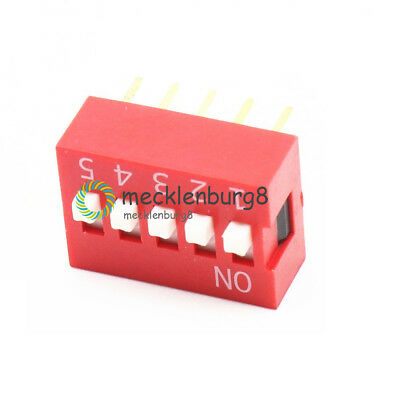 5X Slide Type Switch Module 2.54mm 5-Bit 5 Position Way DIP Red Pitch
