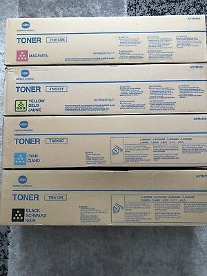 GENUINE ORIGINAL Konica Minolta Full Toner Set For Bizhub C452 C552 C652