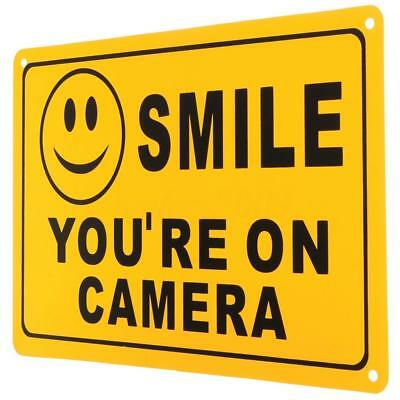 2x SECURITY SURVEILLANCE WARNING SAFETY SIGN DECAL SMILE YOU'RE ON CAMERA