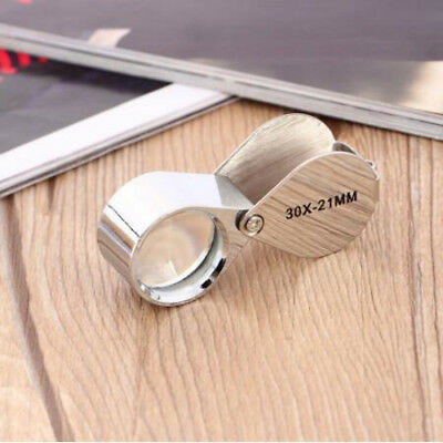 30X Magnifying Glass Jewellers Loupe Jewellery 21mm Eye Lens  Magnifier