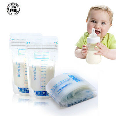 30Pack Pre-Sterilised Breastmilk Baby Breast Milk Storage Zipper Seal Bags Pouch
