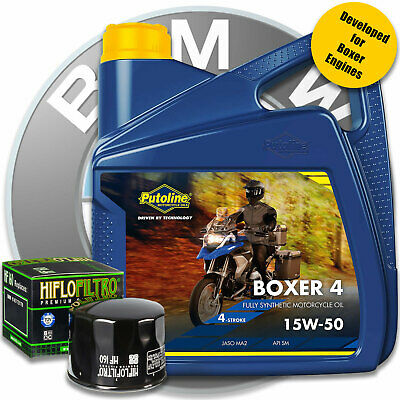 BMW R 1200 GS TE 2014 Putoline Boxer 15w50 Oil 4 Litres and Filter Service Kit