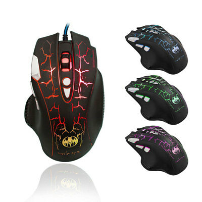Colorful LED Optical USB Wired Gaming Mouse Buttons Gamer Laptop Computer Mice
