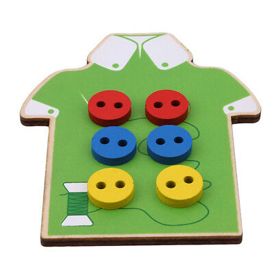 Toddler Montessori Educational Toys Children Beads Lacing Board Wooden Toys  LH