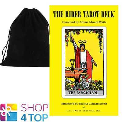 Rider-Waite Premier Edition Tarot Deck Cards Us Games Systems With Velvet Bag