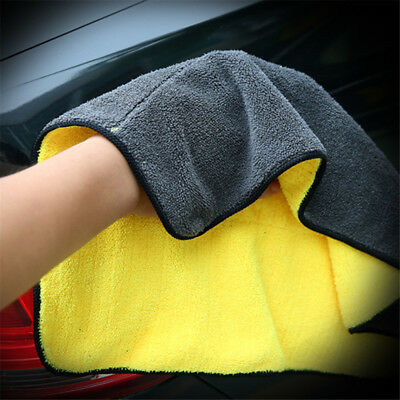 Double Sided Microfiber Car Washing Drying Cloth Cleaning Towel Soft Absorbent