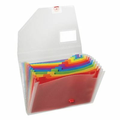 Snopake A4 Rainbow Expanding Organiser 15768 •Business card holder  [SK21725]