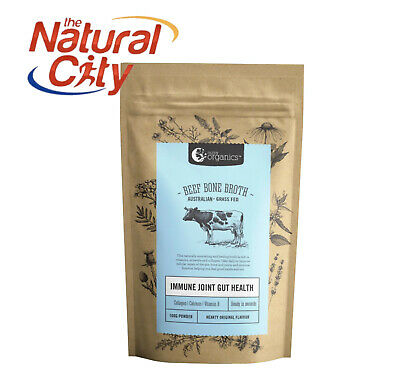 NUTRA ORGANICS-ORG GRASS FED BEEF BONE BROTH POWDER 100g x1 - Hearty Original