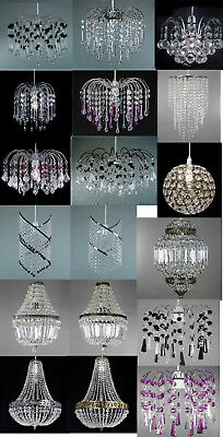 Modern Ceiling Pendant Light Lamp Shade Chandeliers Shades Acrylic Crystal Drop
