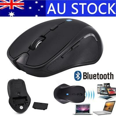 AU! Bluetooth 3.0 Wireless Mouse Mice 1600DPI Optical For Tablet PC Laptop Black
